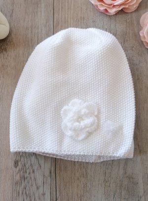bonnet crochet fleurs bébé ou petite fille