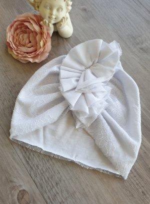 bonnet turban blanc pour bébé