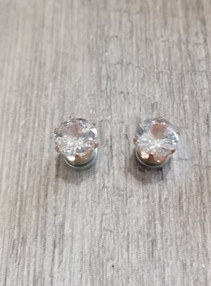 boucle d'oreille strass aimant or