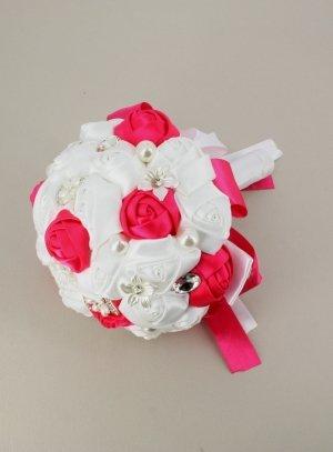 bouquet de mariée artificiel rose fushia