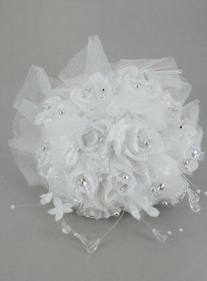 bouquet de mariée artificiel blanc