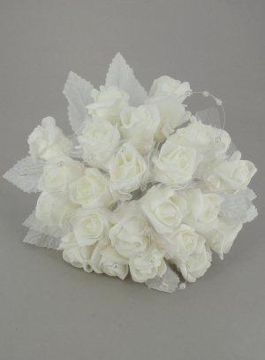bouquet de mariée artificiel ivoire - ecru