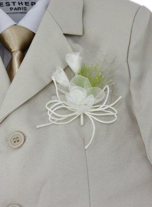 boutonnière vert anis