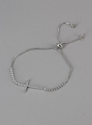 bracelet croix argent