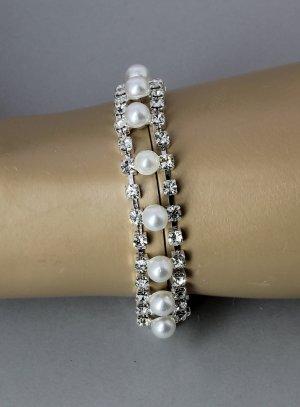bracelet strass et perle femme bijou fantaisie