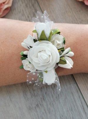 bracelet demoiselle d'honneur avec fleur ET RUBAN