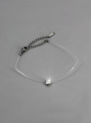bracelet fil de peche strass