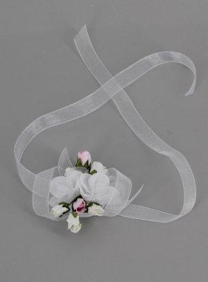 bracelet demoiselle d'honneur enfant ou femme blanc et rose