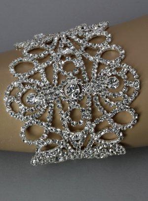 bracelet oriental strass argent