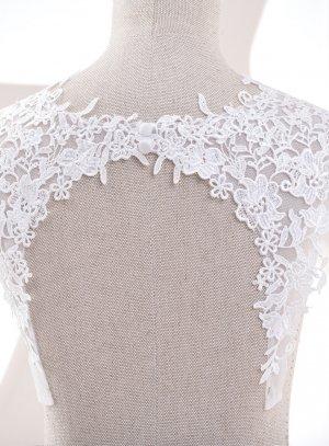 Bretelles pour robe de mariée en dentelle avec dos fermé ivoire écru