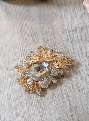 broche bijou ovale strass - bijou fantaisie soirée mariage