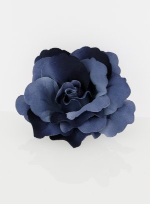 broche fleur tissu mariage marine