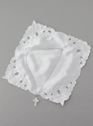 cadeau de baptême fille blanc