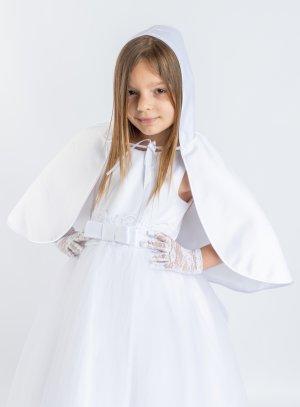Cape blanche avec capuche pour enfant