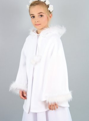 cape de communion blanc