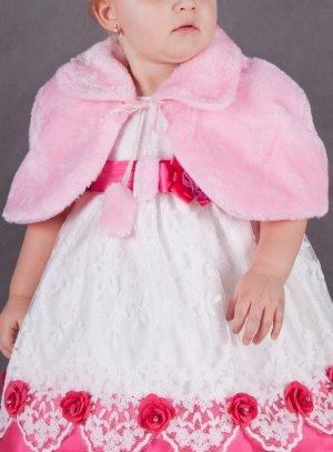 boléro, gilet, veste de cérémonie fille rose