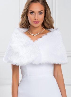 cape mariée blanche