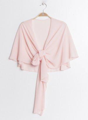 Cape étole en mousseline rose tendre pour cérémonie femme