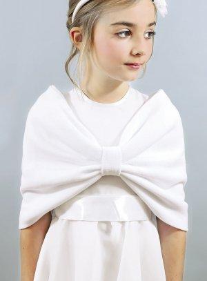 Cape enfant couvre épaule blanche