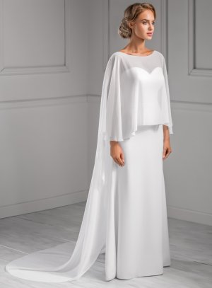 cape longue blanche mariage