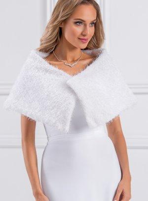 cape mariage hiver blanche