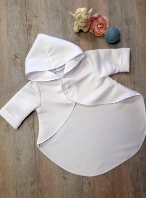 cape de baptême, veste et boléro blanc
