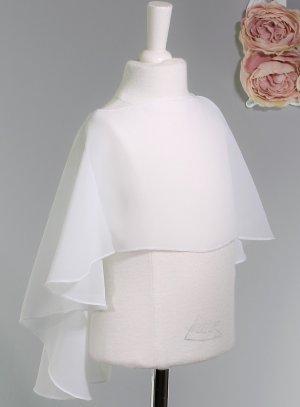 cape blanche voilage bébé baptême
