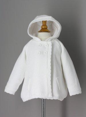 Cardigan blanc fille veste baptême