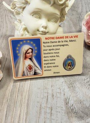 Carte de prière Marie Vierge