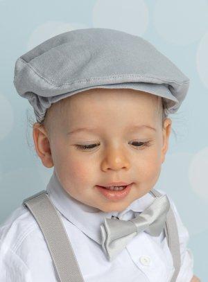 Casquette petit garçon lin gris