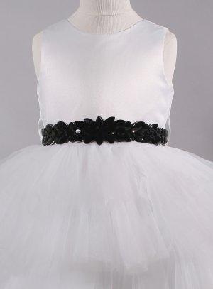 ceinture strass noir cortège mariage soirée femme ou enfant