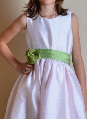 ceinture de cortège fille verte