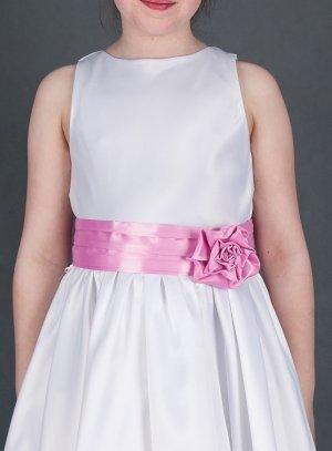ceinture de cortège fille mariage rose