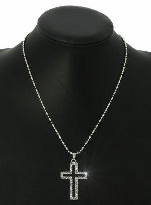 croix et chapelet gris argent