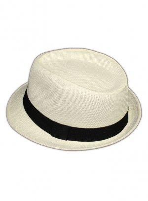 borsalino enfant, chapeau ivoire - ecru