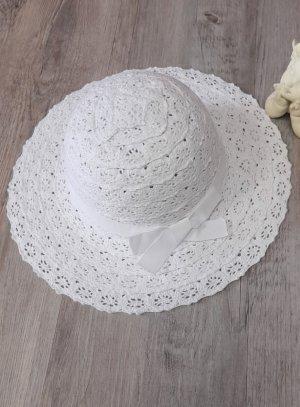 chapeau cérémonie fille dentelle blanc