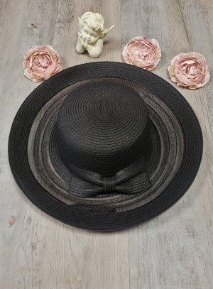 Chapeau mariage noir pour femme bord court et pas cher !