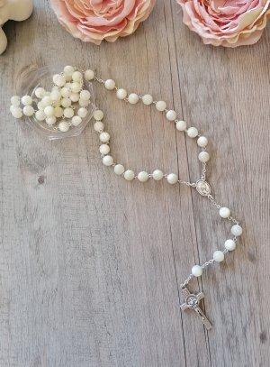 KTO chapelet perle blanche