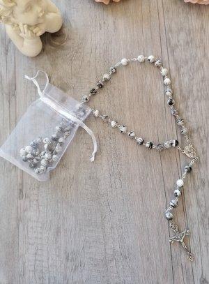 chapelet divine miséricorde perles blanches