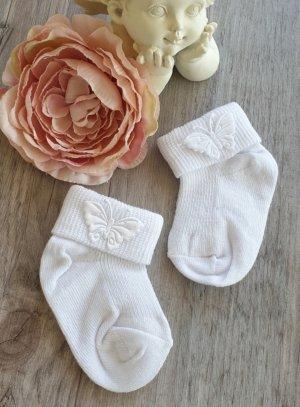 chaussettes blanches bébé papillon