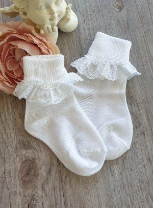 Chaussette dentelle blanche bébé ou fille