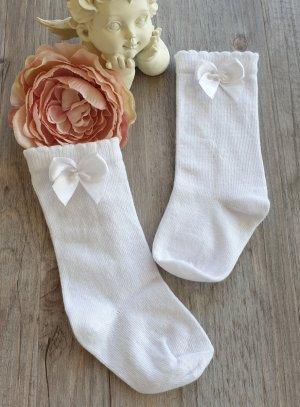 Chaussettes hautes blanches bébé ou petite fille