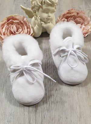 Chaussons de baptême blanc hiver