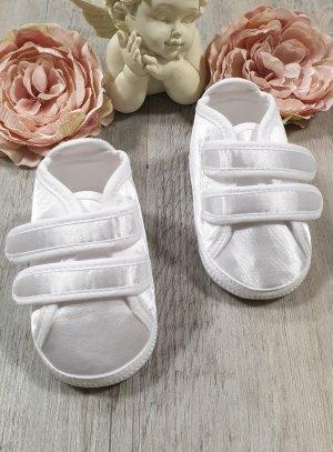 chaussures de baptême garçon blanches basket