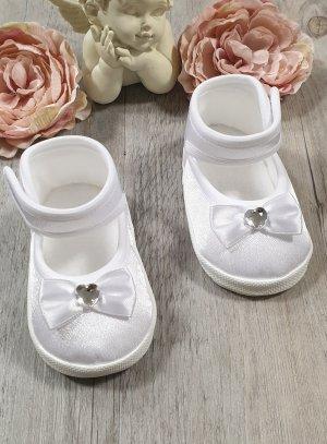 Chaussures baptême bébé fille mariage satin strass
