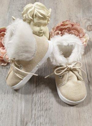 Chaussons cérémonie bébé garçon Hiver ivoire