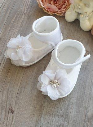 chaussures baptême fille blanc
