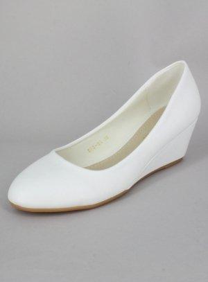 Chaussures avec talon compensé femme BLANCHES