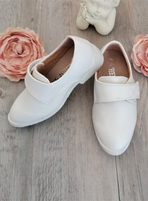 Chaussures baptême garçon blanche jules