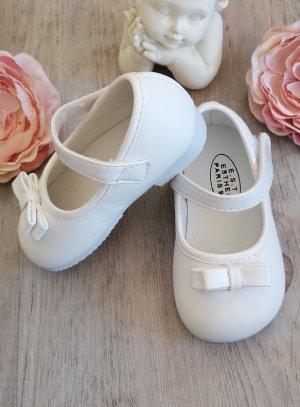 chaussures cérémonie bébé fille mariage baptême petit noeud